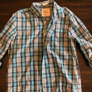 Plaid American Eagle Button Down Shirt